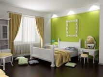 Intérieur moderne de chambre à coucher Image stock