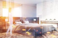 Intérieur moderne de chambre à coucher modifié la tonalité Photographie stock