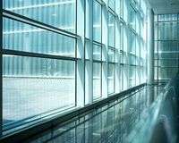 Intérieur moderne de construction photographie stock