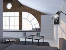 Intérieur moderne de couleur claire 3d rendent Image libre de droits