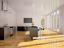 Intérieur moderne de cuisine. Images stock