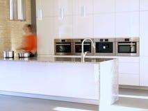 Intérieur moderne de cuisine Photo libre de droits