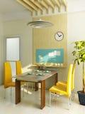 Intérieur moderne de cuisine Photo stock