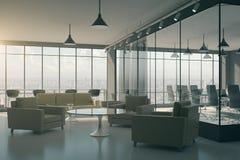Intérieur moderne de lobby de bureau illustration de vecteur