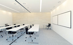Intérieur moderne de pièce de conférence d'affaires avec l'écran de moniteur vide pour la présentation Photographie stock