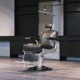Intérieur moderne de raseur-coiffeur avec la chaise rendu 3d Image libre de droits