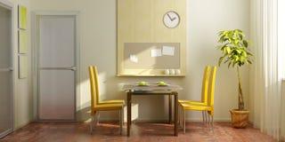 Intérieur moderne de salle à manger Images stock