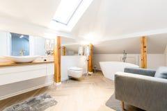 Intérieur moderne de salle de bains images libres de droits