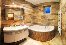 Intérieur moderne de salle de bains de maison Photo libre de droits