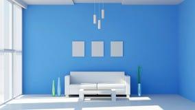 Intérieur moderne de salle de séjour Photographie stock libre de droits