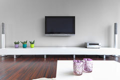 Intérieur moderne de salle de séjour Photographie stock
