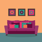 Intérieur moderne de salle de séjour Images stock