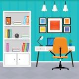 Intérieur moderne de siège social dans une conception plate Images stock