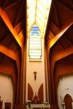 Intérieur moderne de temple Images libres de droits