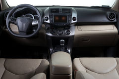 Intérieur moderne de véhicule Photos stock