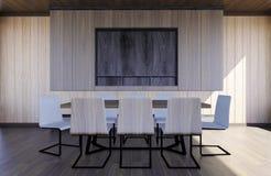 Intérieur moderne et minimal de lieu de réunion Images stock