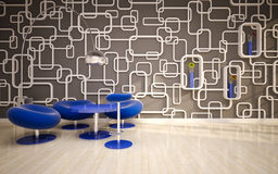 Intérieur moderne minimal. offis illustration stock
