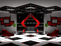 Intérieur neuf d'un salon Images stock