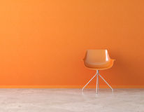 Intérieur orange de mur avec la copie illustration stock