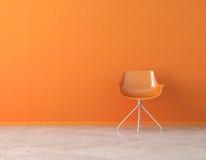 Intérieur orange de mur avec la copie Photos libres de droits