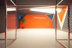 Intérieur orange moderne illustration libre de droits