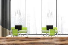 Intérieur panoramique brouillé de bureau de l'espace ouvert illustration libre de droits