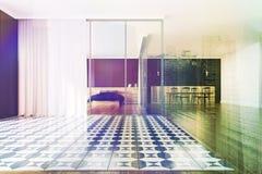 Intérieur panoramique de beroom modifié la tonalité Photographie stock