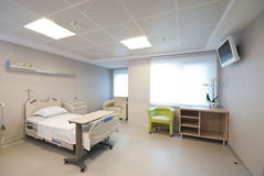 Int rieur priv de chambre d 39 h pital photographie stock for Interieur hopital