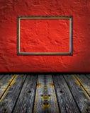 Intérieur rouge de terre cuite de cru avec la trame classique Images libres de droits