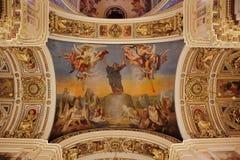 Intérieur russe de temple de cathédrale d'orthodoxie Images stock