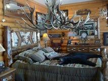 Intérieur rustique de société de meubles de bois de construction Photographie stock