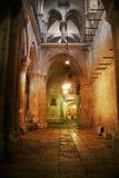 Intérieur saint d'église de Sepulcher. Photo stock