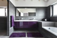 Intérieur, salle de bains Image stock