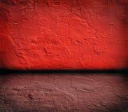 Intérieur sanglant rouge de guerre de cru comme fond images stock