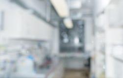 Intérieur scientifique de laboratoire hors focale, l'espace des textes Photographie stock libre de droits