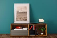 Intérieur simple avec des articles de décor Images stock