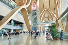 Intérieur spacieux d'aéroport de Kunming Changshui, Chine Photos libres de droits