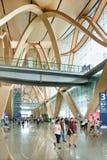 Intérieur spacieux d'aéroport de Kunming Changshui, Chine Photos stock