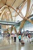 Intérieur spacieux d'aéroport de Kunming Changshui, Chine Images libres de droits