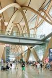 Intérieur spacieux d'aéroport de Kunming Changshui, Chine Image stock