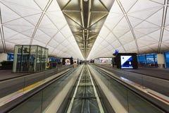 Intérieur terminal d'aéroport de Hong Kong Photographie stock libre de droits