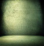 Intérieur vert grunge. Image libre de droits