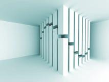 Intérieur vide Backgro de pièce d'architecture de concept abstrait de colonne Image stock