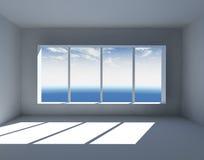 Intérieur vide blanc Photographie stock libre de droits