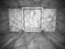 Intérieur vide concret sombre de pièce CCB urbain moderne d'architecture Image libre de droits