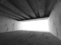 Intérieur vide concret sombre de pièce Fond d'architecture Image stock