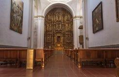 Intérieur vide d'église de cuernavaca Images stock