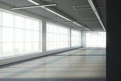 Intérieur vide d'entrepôt Image stock