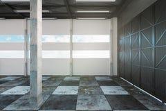 Intérieur vide d'entrepôt illustration de vecteur
