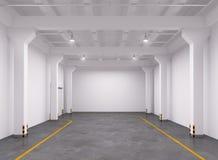 Intérieur vide d'entrepôt Photographie stock libre de droits